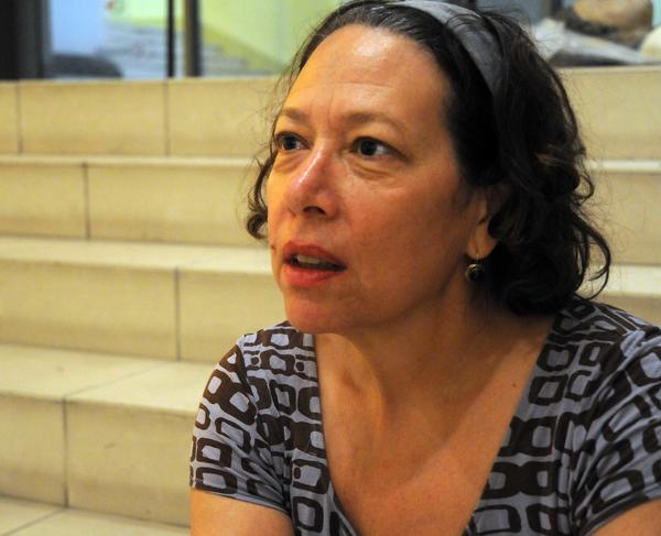 Holly Block, directora del Museo del Bronx, en declaraciones a la Agencia de Información Nacional (AIN), en el Museo Nacional de Bellas Artes, en La Habana, Cuba, el 14 de mayo de 2015. AIN FOTO/Abel PADRÓN PADILLA