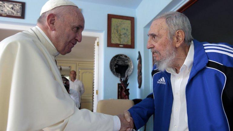 El encuentro informal entre Francisco y Fidel Castro fue este domingo en La Habana