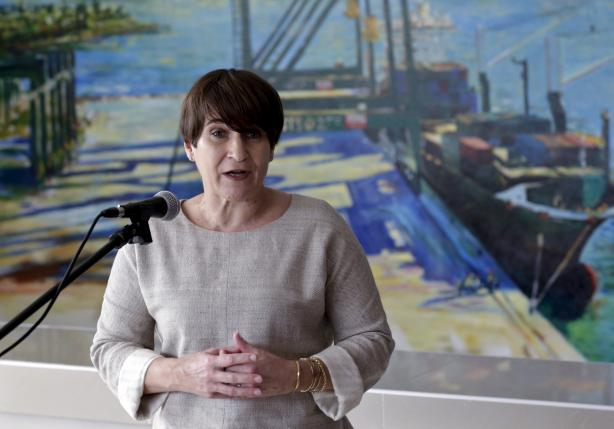 TDutch Minister for Foreign Trade and Development Lilianne Ploumen addresses the media during a news conference at the Mariel Port in Artemisa province, Cuba, January 11, 2016. REUTERS/Enrique de la Osa