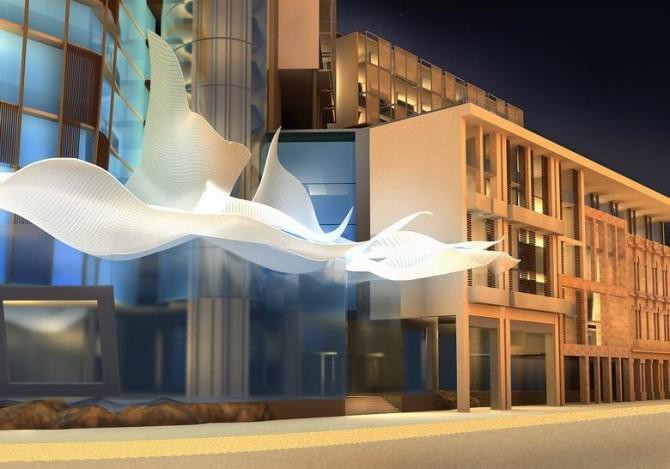 J-A_Choy_Edificio_Prado-Malecon_Entrada_Noche