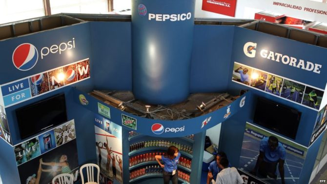 Pepsi fue parte de las empresas estadounidenses que participaron en la Feria Internacional de La Habana 2012.