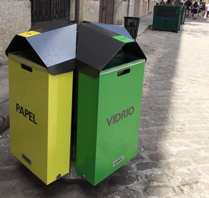 Por primera vez en La Habana depósitos de colores para clasificar la basura