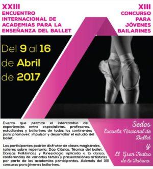 XXIII ENCUENTRO INTERNACIONAL DE ACADEMIAS PARA LA ENSEÑANZA DEL BALLET