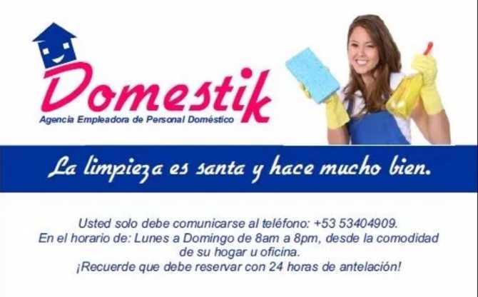 Agencia Empleadora de Personal Doméstico,Cuba,Santiago de Cuba,Idalmis Conde Mayet