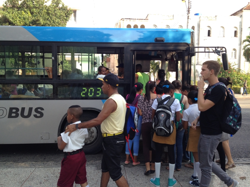 rutas de ómnibus,La Habana,aplicación