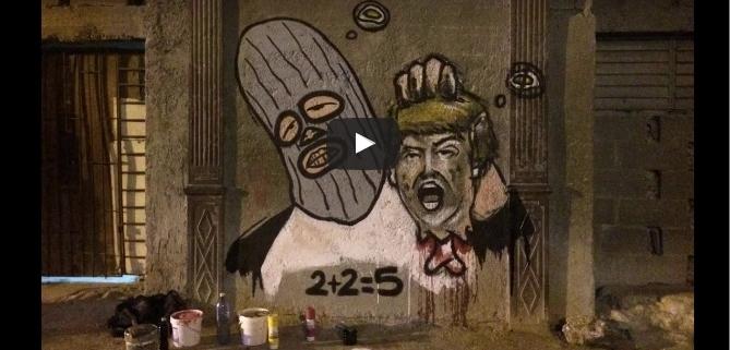 """Donald Trump """"decapitado"""" en La Habana"""