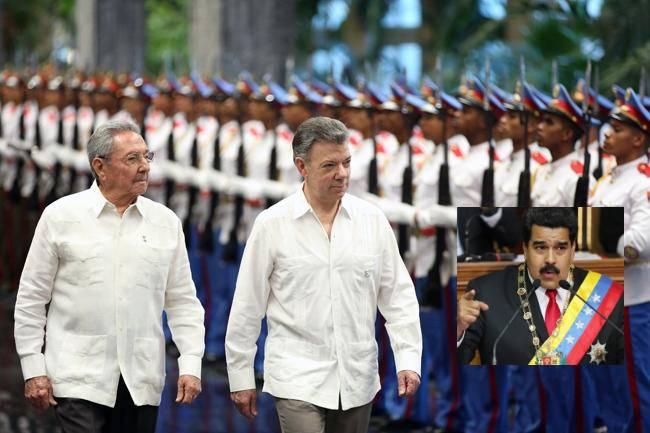 ¿El presidente colombiano negocia en Cuba exilio de Maduro?