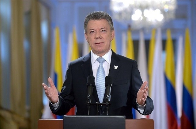 Santos llega a La Habana para una visita oficial de dos días