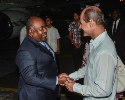 El presidente de Gabón está en un viaje a Cuba
