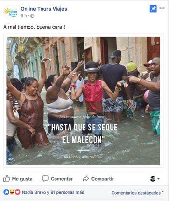 Imagen publicitaria de La Habana tras el huracán Irma causa controversia