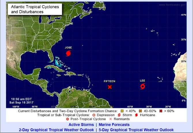 "Cuba observa la recién formada depresión tropical ""Fifteen"" in the Atlantic"