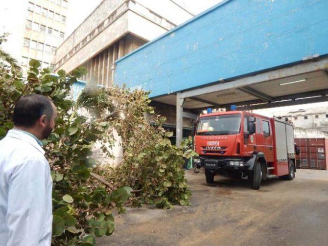 Irma deja importantes daños en el Hospital Hermanos Ameijeiras