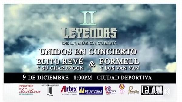 En La Habana concierto de las orquestas Los Van Van y Elito Revé