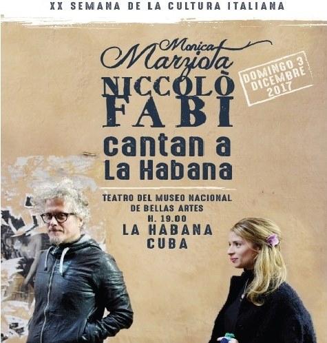 Concierto cierra hoy Semana de la Cultura Italiana en Cuba