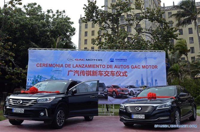 Autos chinos GAC una nueva oferta para el turismo en Cuba