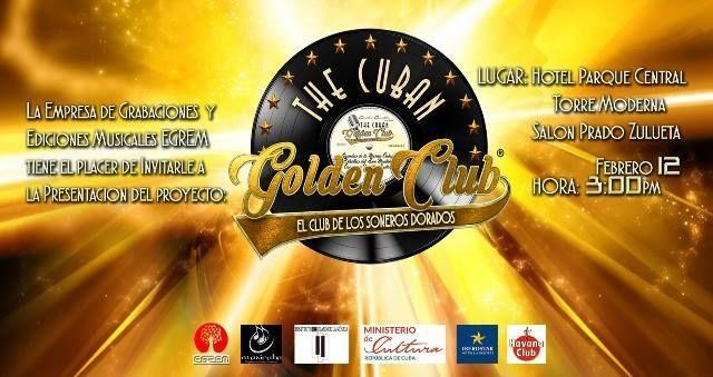 """Presentan en La Habana nuevo proyecto musical """"The Cuban Golden Club"""""""