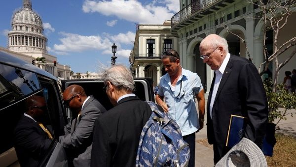 Castro recibe a congresistas de EEUU que visitan Cuba