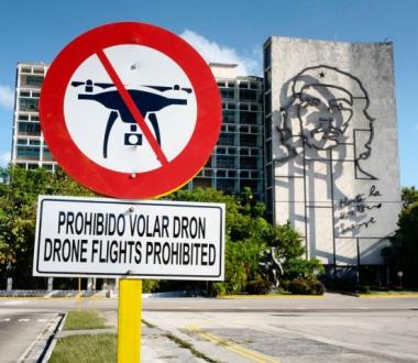 Prohibido volar drones en la Plaza de la Revolución de La Habana
