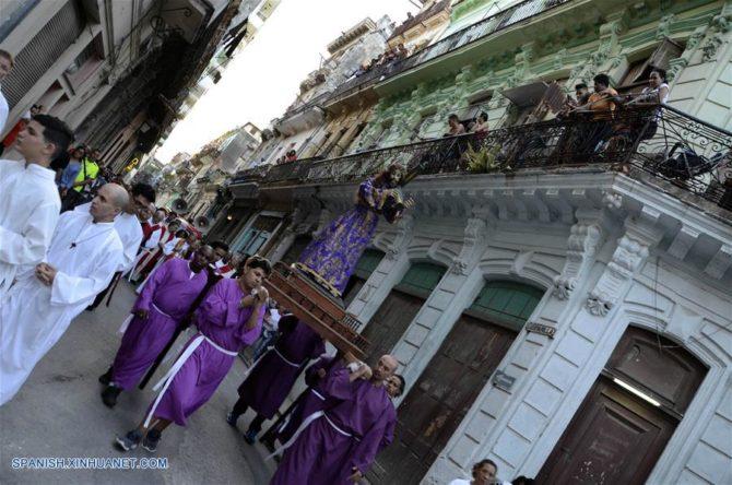 SEMANA SANTA Una representación de la Pasión de Cristo en La Habana (Fotos)