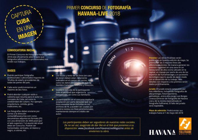 Primer concurso de Fotografia HAVANA-LIVE 2018