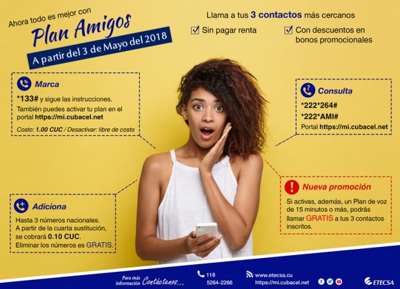 Plan Amigos de ETECSA 2018