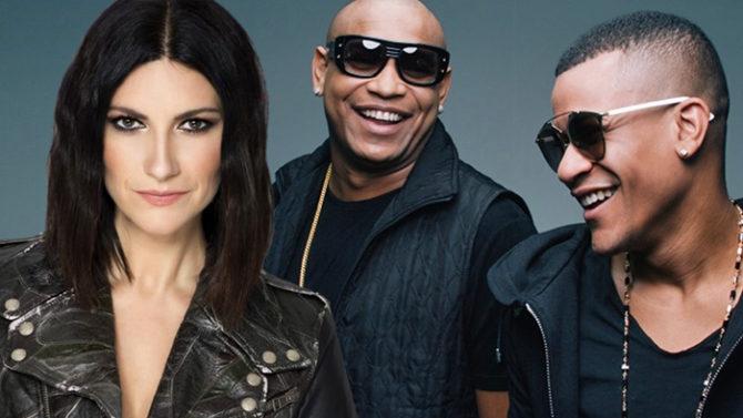 La lluvia no pudo impedir concierto en La Habana de Gente de Zona y Laura Pausini, al que asistió Díaz Canel