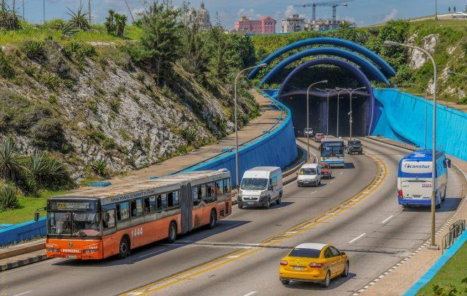 Cierre parcial del túnel de la bahía habanera
