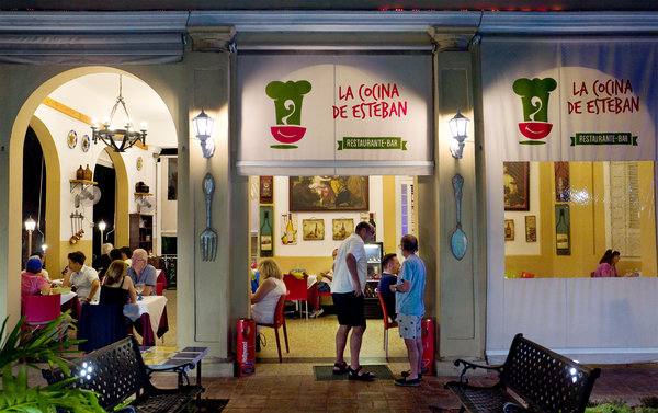 La Cocina de Esteban in Havana serves Italian, Spanish and Cuban cuisine, but an owner said it can be difficult to obtain even staples like coffee. Credit Eliana Aponte Tobar for The New York Times