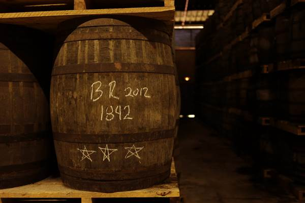 HAVANA, CUBA - APRIL 3: Thousands of white oak barrels with aging rum are stored in one of six storage houses at the Havana Club rum factory on April 3, 2015 in San Jose de las Lajas, Cuba. Sven Creutzmann/Mambo Photo / Getty Images