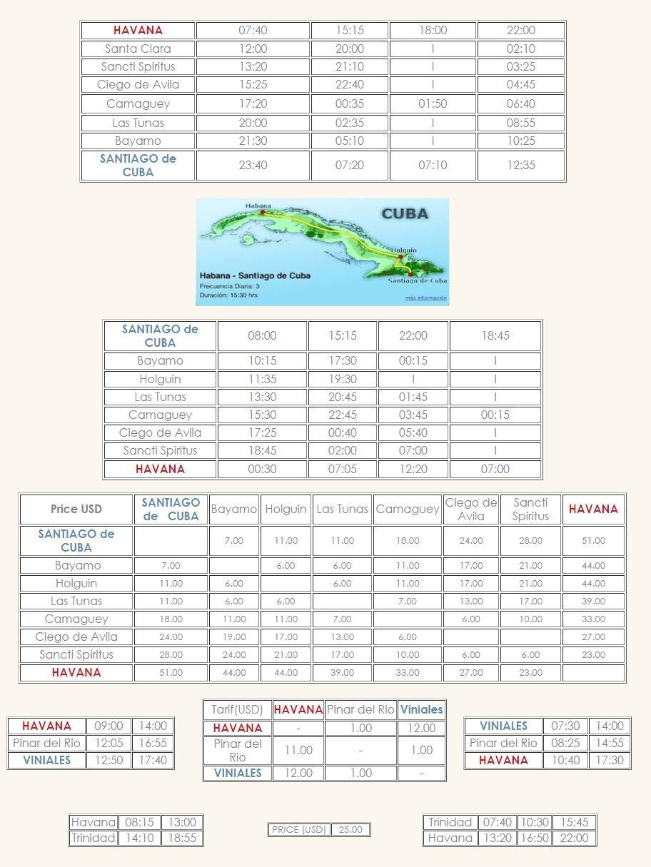 Viazul Bus Information For Havana And Cuba