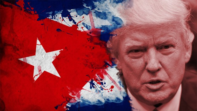 "Trump threatens Cuba a ""full and complete embargo"" over Venezuela aid"
