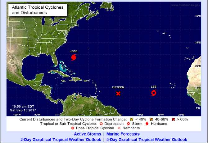 "Cuba observes the newly formed tropical depression ""Fifteen"" in the Atlantic"