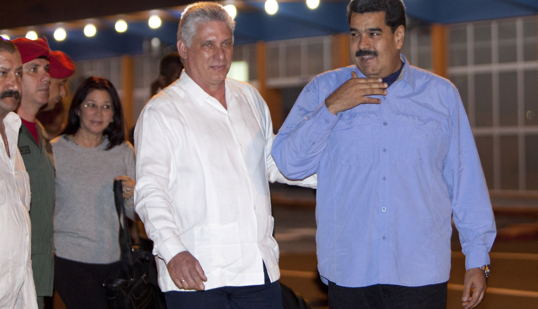 Nicholas Maduro arrives in Cuba to meet new president Miguel Diaz-Canel