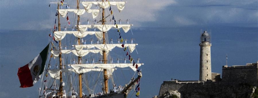"""Ship """"Cuauhtemoc"""" of Mexican Navy arrives at port of Havana"""