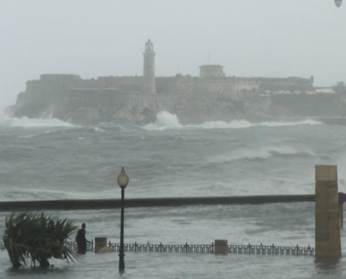 "Cuba's historic Malecon is ""under the weather"""