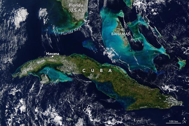 The beautiful ocean boundary between the U.S. and Cuba