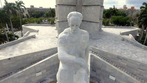 La Plaza de la Revolución vista de drone