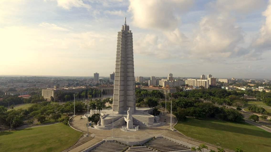 THE PLAZA DE LA REVOLUCIÓN VIEW FROM A DRONE