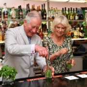 Charles and Camilla have a rum old time as they make and drink their own mojitos