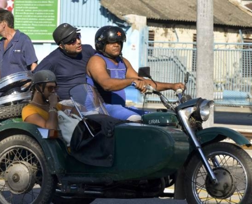 Soviet-era motorcycle sidecars add to Cuba's retro appeal