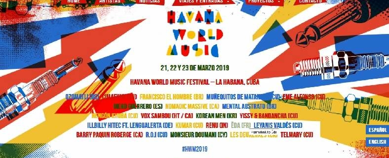 Havana World Music Festival March 21-23