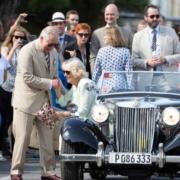 Charles hits Havana's road in vintage MG