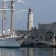 Buque Juan Sebastián de Elcano en La Habana como hace 90 años
