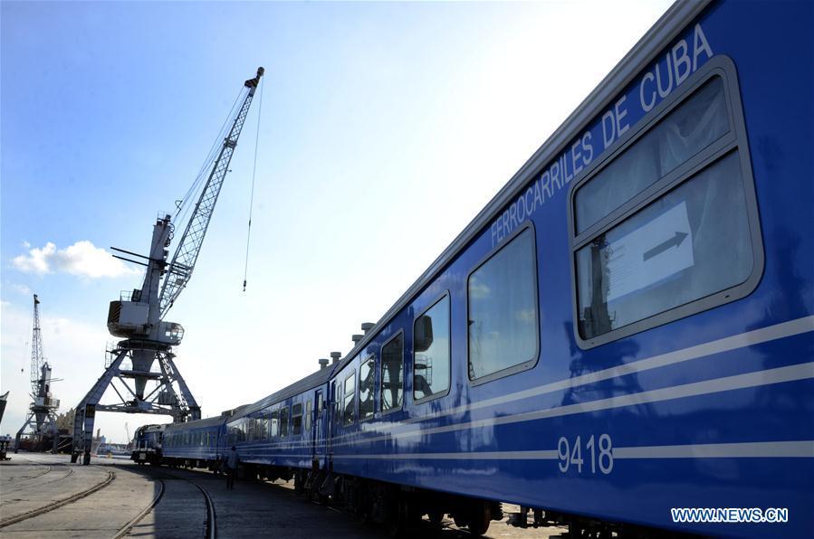 Cuba recibe primer lote de vagones chinos para recuperar su red ferroviaria