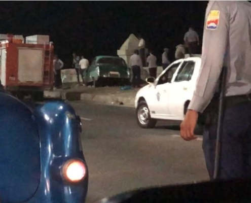 Preliminary results of fatal crash on the Havana Malecón