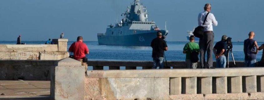 Russian warships arrive in Cuba amid tensions with the EU