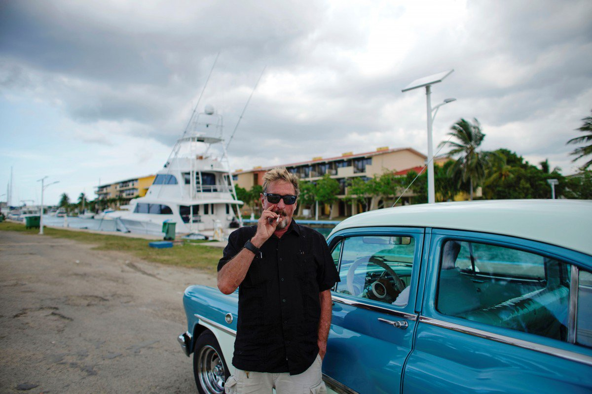 Millionaire antivirus guru John McAfee launches US presidential run from yacht in Havana