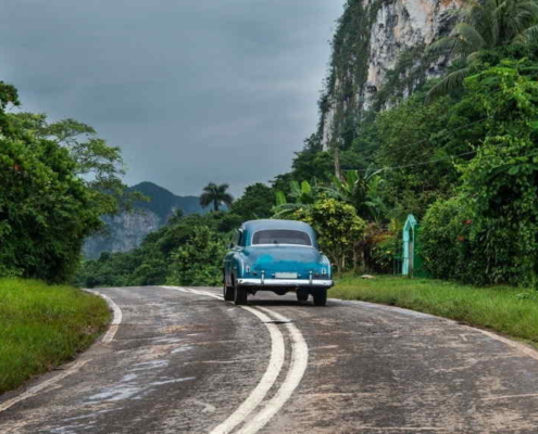 More than 75% of the roads in Cuba are in regular or bad condition