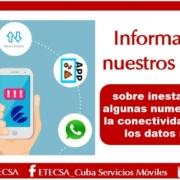 """ETECSA ofrece """"compensación"""" a sus usuarios por recientes afectaciones"""