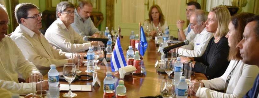 Cancilleres de Cuba y la UE se reúnen antes del Consejo Conjunto en La Habana